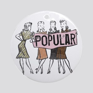 Retro Vintage Popular Ornament (Round)
